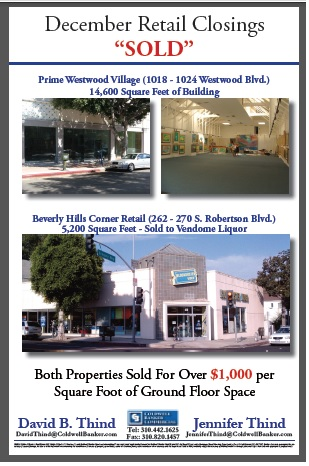Beverly Hills and Westwood SOLD Dec 2013